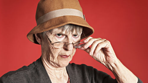 злая бабулька