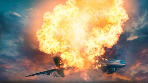 видеть крушение военного самолета
